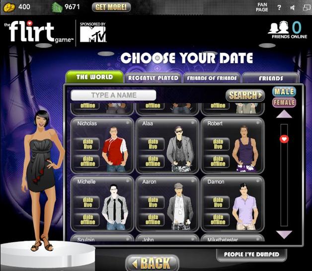 Flirt game